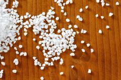 Coarse grained salt - stock photo