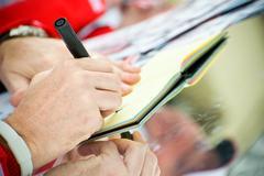 autograph - stock photo