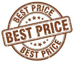 Best price brown grunge round vintage rubber stamp Stock Illustration