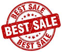 Best sale red grunge round vintage rubber stamp Stock Illustration