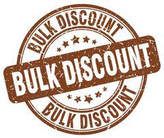 bulk discount brown grunge round vintage rubber stamp - stock illustration
