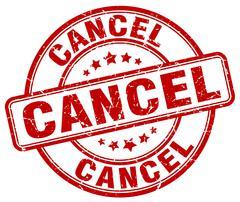 Cancel red grunge round vintage rubber stamp Stock Illustration