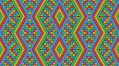Kaleidoscopic Shapes Stripes and Squares Colorful Seamless Looping Background - stock footage