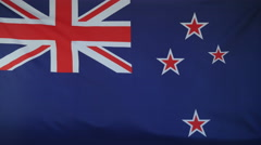 New Zealand Flag real fabric Close up 4K Stock Footage