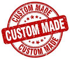 Custom made red grunge round vintage rubber stamp Stock Illustration