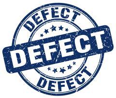 defect blue grunge round vintage rubber stamp - stock illustration