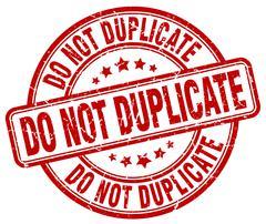do not duplicate red grunge round vintage rubber stamp - stock illustration