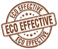 eco effective brown grunge round vintage rubber stamp - stock illustration