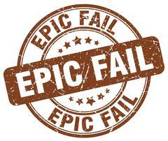 Epic fail brown grunge round vintage rubber stamp Stock Illustration