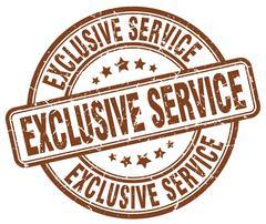 Exclusive service brown grunge round vintage rubber stamp Stock Illustration