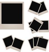 Retro photo frame isolated on white background. Vector illustration Stock Illustration