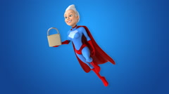 Computer animation - Super woman Stock Footage