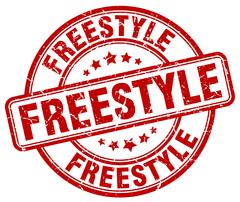 Freestyle red grunge round vintage rubber stamp Stock Illustration