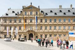 Tourists at Neue Residenz in Bamberg Stock Photos