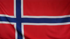 Norway Flag real fabric Close up 4K Stock Footage