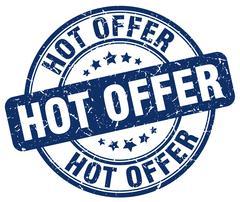 hot offer blue grunge round vintage rubber stamp - stock illustration