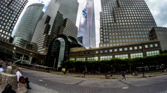 E World Trade Center and buildings in New York City, New York, USA Stock Footage