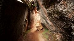 PERU: Inca labyrinth Q'Enqo near Cusco Stock Footage