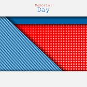 Memorial Day vector - stock illustration