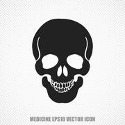 Medicine vector Scull icon. Modern flat design - stock illustration
