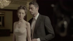 The actors play a romantic role Stock Footage