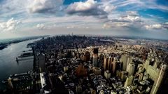 Aerial view of the New York City, New York, USA Stock Footage