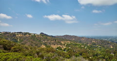 View from Hollywood hills on San Fernando valley Stock Footage