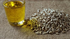 oil and Seeds - stock footage