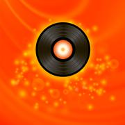 Retro Vinyl Disc - stock illustration