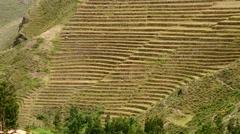 PERU: Inca terraces (South America) Stock Footage
