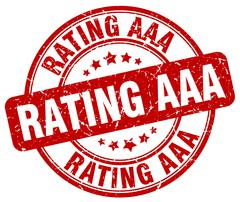 rating aaa red grunge round vintage rubber stamp - stock illustration
