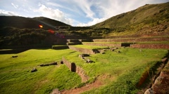 Inca ruins of Tipón, Andes of Peru, South America - stock footage