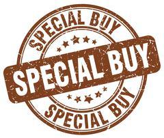 Special buy brown grunge round vintage rubber stamp Stock Illustration