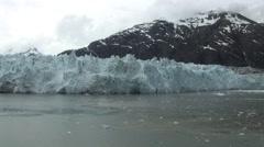 Alaska Glacier Bay Over Cast Weather Stock Footage