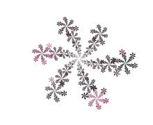 purple bloom fractal - stock illustration