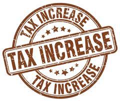 Tax increase brown grunge round vintage rubber stamp Stock Illustration