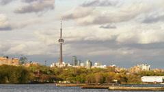Toronto Skyline Cityscape Timelapse Stock Footage
