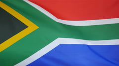 South Africa Flag real fabric Close up 4K Stock Footage