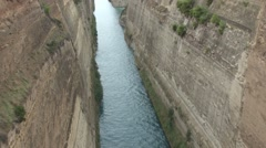 Tilt up the Corinth Canal in Greece, Stock Footage