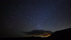 Astro Time Lapse of Milky Way Galaxy rising over Mojave Desert -Tilt Up- - stock footage