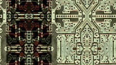 Integrated circuit board abstraction - Data Storm 0566 HD, 4K Stock Video - stock footage