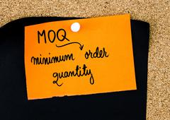Business Acronym MOQ as Minimum Order Quantity - stock photo