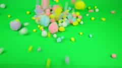Falling pom-poms Stock Footage