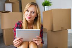 Finally. I have my own apartment. - stock photo