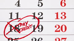Calendar with a date circled in marker Stock Footage