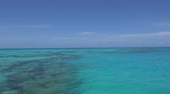 Panorama of azure color sea with coral reef from boats. Bermuda. Stock Footage