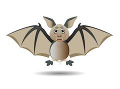Bat cartoon character Stock Illustration