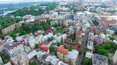 Kiev Central District. Aerial Video Footage - stock footage