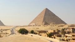 Time Lapse Zoom of Great Pyramids & Sphinx Daytime at Giza - Egypt Stock Footage