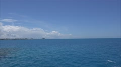 Panorama of Atlantic with boats. Bermuda. - stock footage